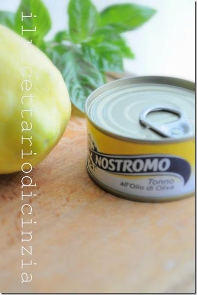 pasta al tonno limone e basilico