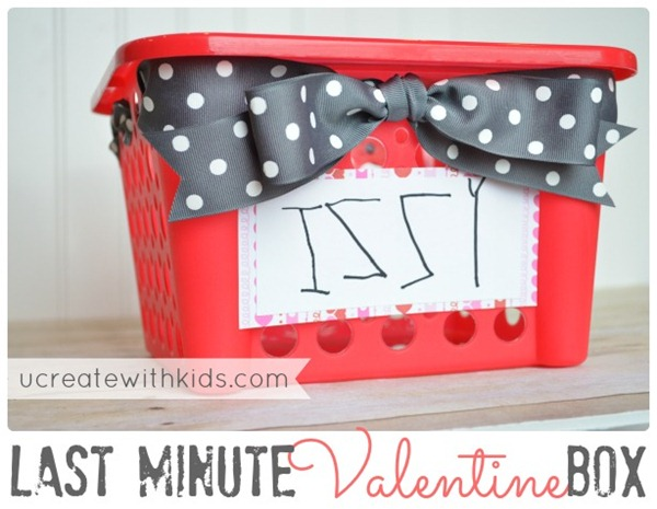 Simple Last Minute Valentine Box at ucreatewithkids