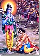 Vibhishana meeting Rama