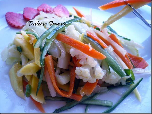 salada mix de legumes - Delícias frugais