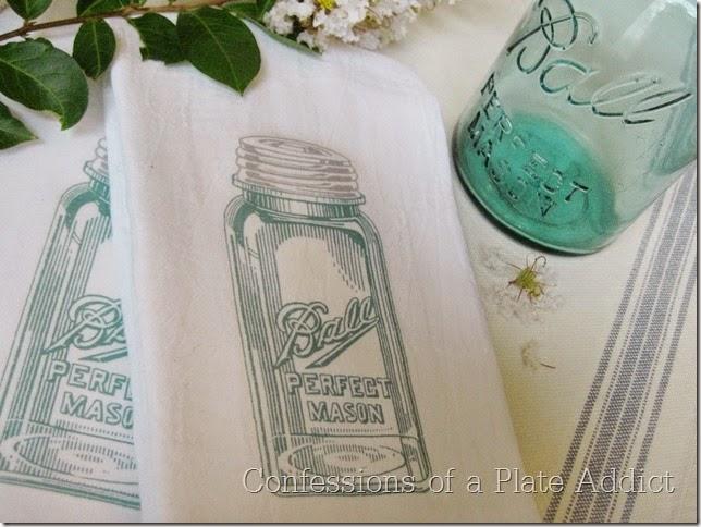 CONFESSIONS OF A PLATE ADDICT Mason Jar Tea Towels