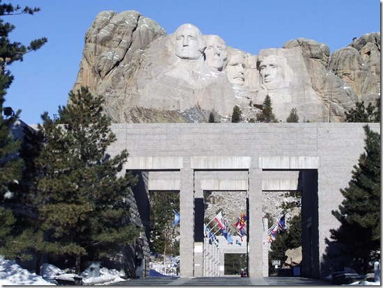 Mount Rushmore and Avenue of Flags - National Parks Image