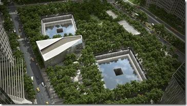 National September 11 Memorial Aerial