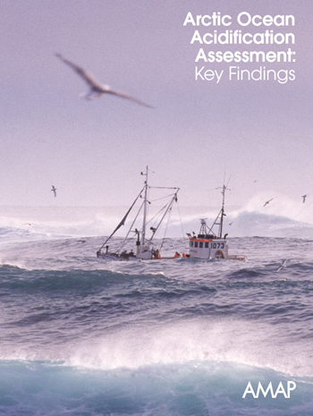 Cover of the AMAP report, 'Arctic Ocean Acidification Assessment: Key Findings', May 2013. Photo: AMAP
