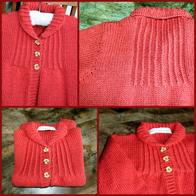 Vintage cardi for Gaia