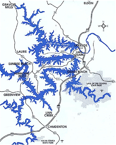 The lake of the ozarks in missouri for Public fishing areas near me