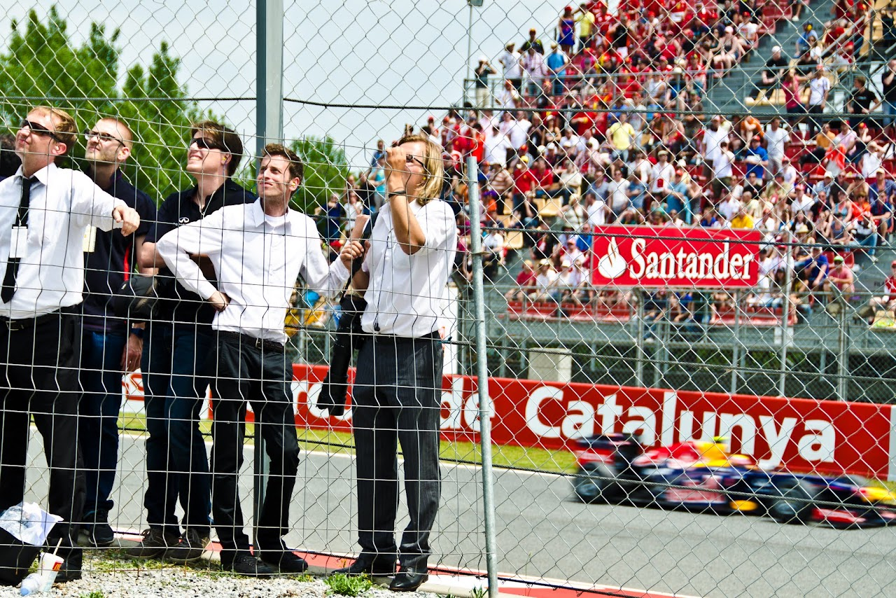 Watching the F1 at the Circuit de Catalunya