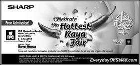 sharp-hottest-raya-fair-2011-EverydayOnSales-Warehouse-Sale-Promotion-Deal-Discount