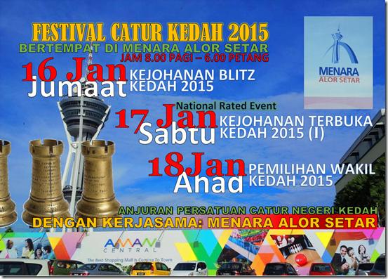 Festival Catur Kedah 2015 flyer NRE-1