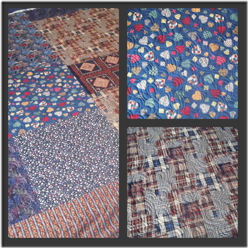 Jo's quilt back Collage
