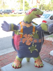 Florida Venice decorated turtle front1