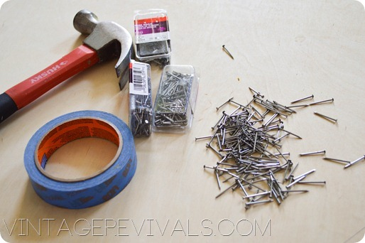 Supplies for String Art @ Vintage Revivals