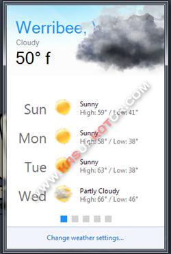 Mengetahui Informasi Cuaca lewat System Tray Windows 7