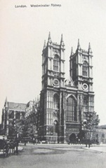 vintage postcards westminster abby