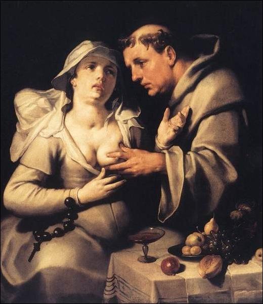 Cornelis Van Haarlem, Moine et nonne