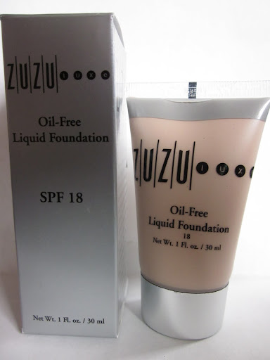 ZuZu Luxe Oil-Free Liquid Foundation, SPF 18 ($29.75 for 1 fl oz)