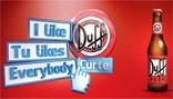 duff beer i like tu like everybody curte