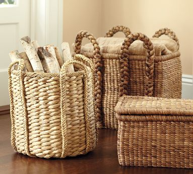 These baskets would be great for storing towels by the pool. (potterybarn.com)