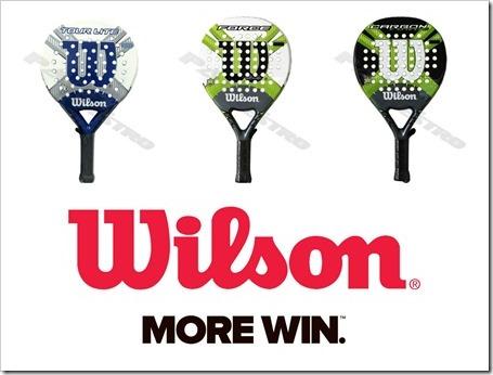 Las palas más importantes de la firma Wilson gracias a la tienda Padelnuestro.