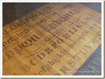tattooed bamboo floor mat