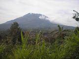 Merbabu as seen from the road to the masts at the summit of Telomoyo (Daniel Quinn, October 2010)