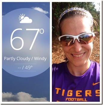 Beautiful weather great run
