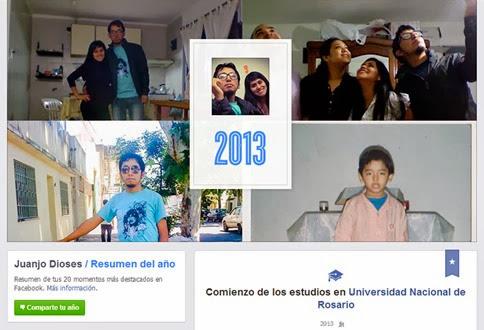 Cómo compartir tu resumen del año 2013 en Facebook