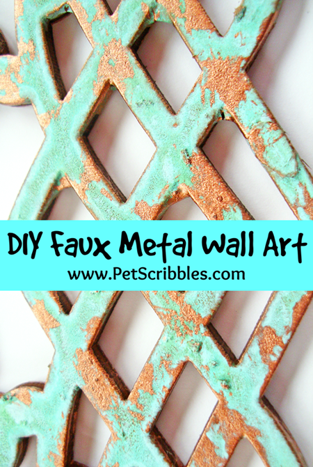 Pet Scribbles - DIY Faux Metal Wall Art
