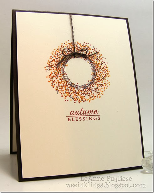 LeAnne Pugliese WeeInklings CASology 63 Autumn Wreath