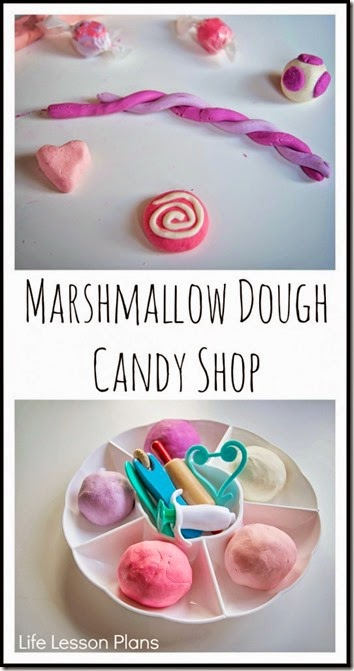 marshmallough playdough recipe - This is usch a fun, unique playdough recipe that is edbile!