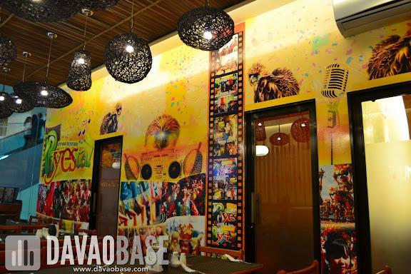 Videoke rooms inside PiYESta KTV and Resto Bar