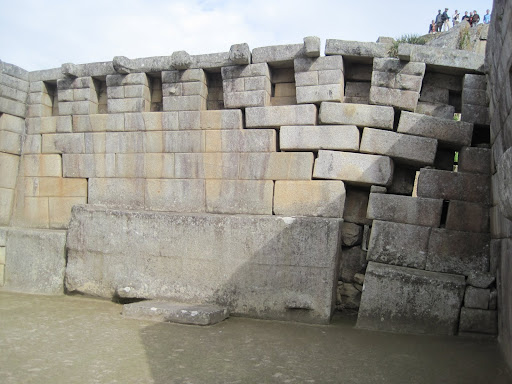 Signs that the ruins are sinking under the weight of the thousands of tourists that visit daily.