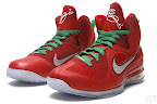 nike lebron 9 gr christmas 6 02 Throwback Thursday: Look Back at LBJs 2011 Christmas Shoes