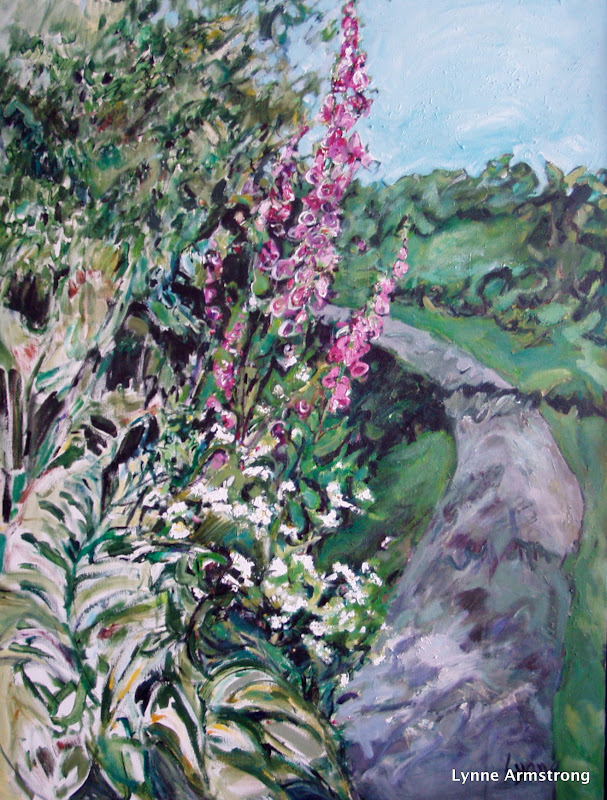 Path with Foxgloves