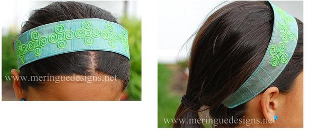 headbands collage