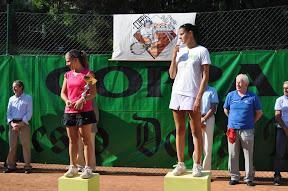 Elena Rurigliano e, sul gradino più alto del torneo, Alice Moroni.