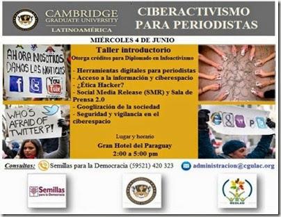 Flyer ciberactivismo para periodistas - medida postcard