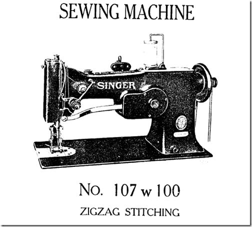 Manual máquina de coser Singer 107W100.