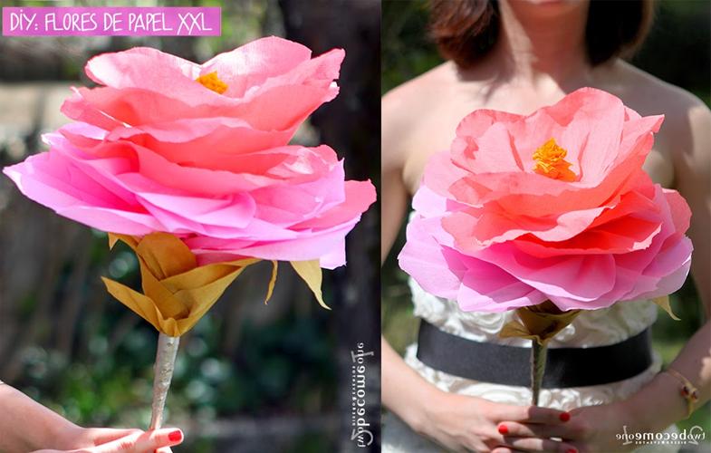 Flores de Papel Grandes y Hermosas | Aprende a hacerlo en 5 pasos