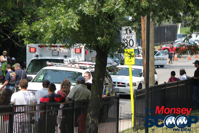 Child Struck By Vehicle In Spring Valley On Memorial Park Dr (Moshe Lichtenstein) - IMG_4528.JPG