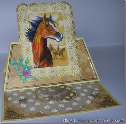 carterie créative, 3D, chevalet, vellum, chevaux