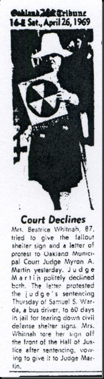 Beatrice Whitnah-Protest
