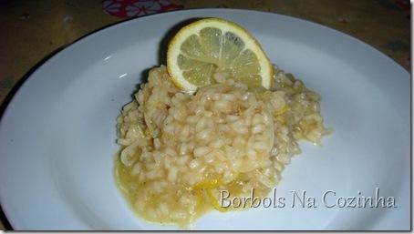 risoto com limão siciliano