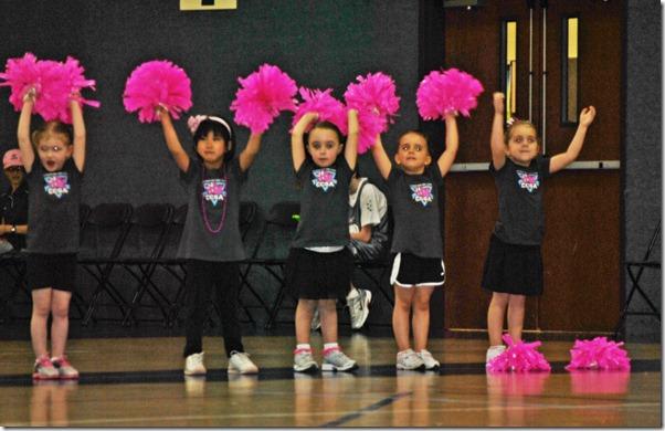 Hannah's First Cheerleading Game 057