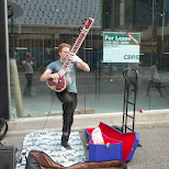 street performers downtown Vancouver in Vancouver, British Columbia, Canada