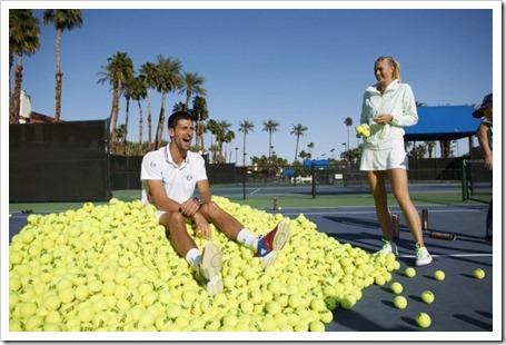 Djokovic y Sharapova en busca de oro: la pelota HEAD ATP protagonista de una promoción.