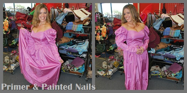 Pink Dress 1 - Primer &amp; Painted Nails