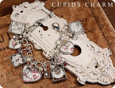 My bridal gown lace bracelet-Cupid&#39;s Charm