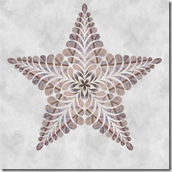 five feather star pebbles inner star