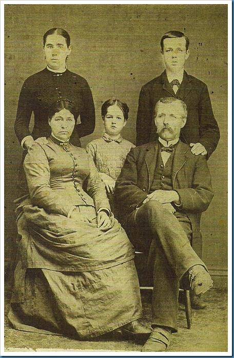 Parents Martha Arvilla Hewitt and John Philip Hevener, children Elsie, Martha Arvilla,James